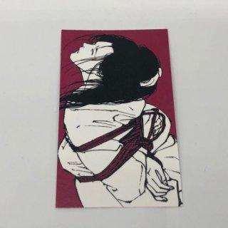 緊縛絵メッセージカード 4枚パック 菖蒲