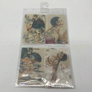 血塗れ緊縛絵メッセージカード4種セット