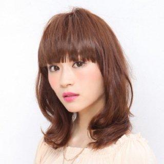 前髪ウィッグ/ぱっつんシャギーちゃん/FX01【耐熱ナチュラルカラー】
