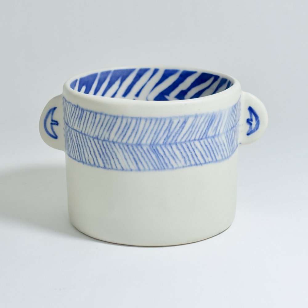 blue cup B