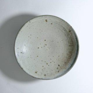 灰白窯変平鉢