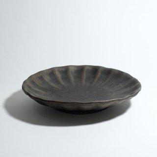 黒錆釉輪花皿 7寸