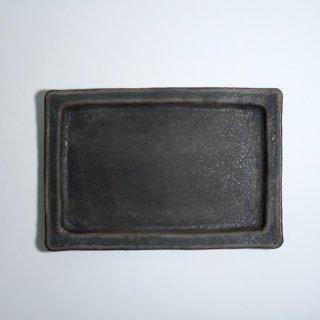 黒錆釉長角皿 9寸