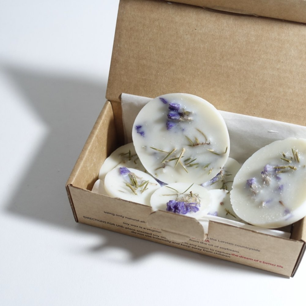 scented soy wax rounds