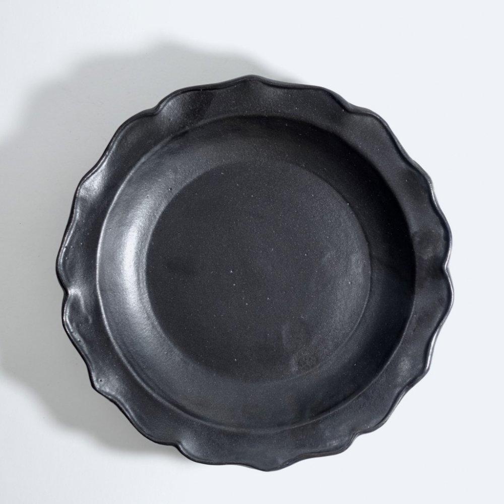 黒釉ドレープ深皿