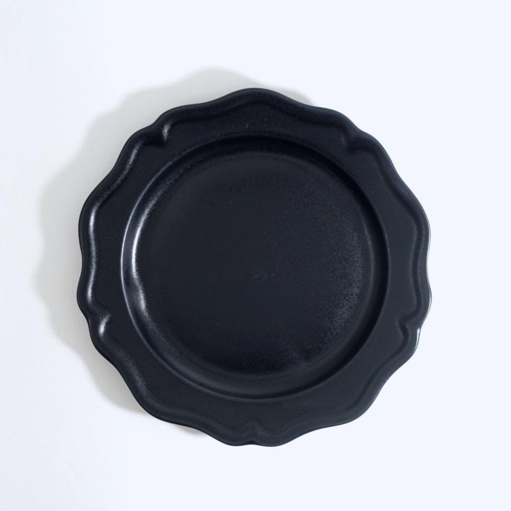 7寸ピューターリム皿 黒