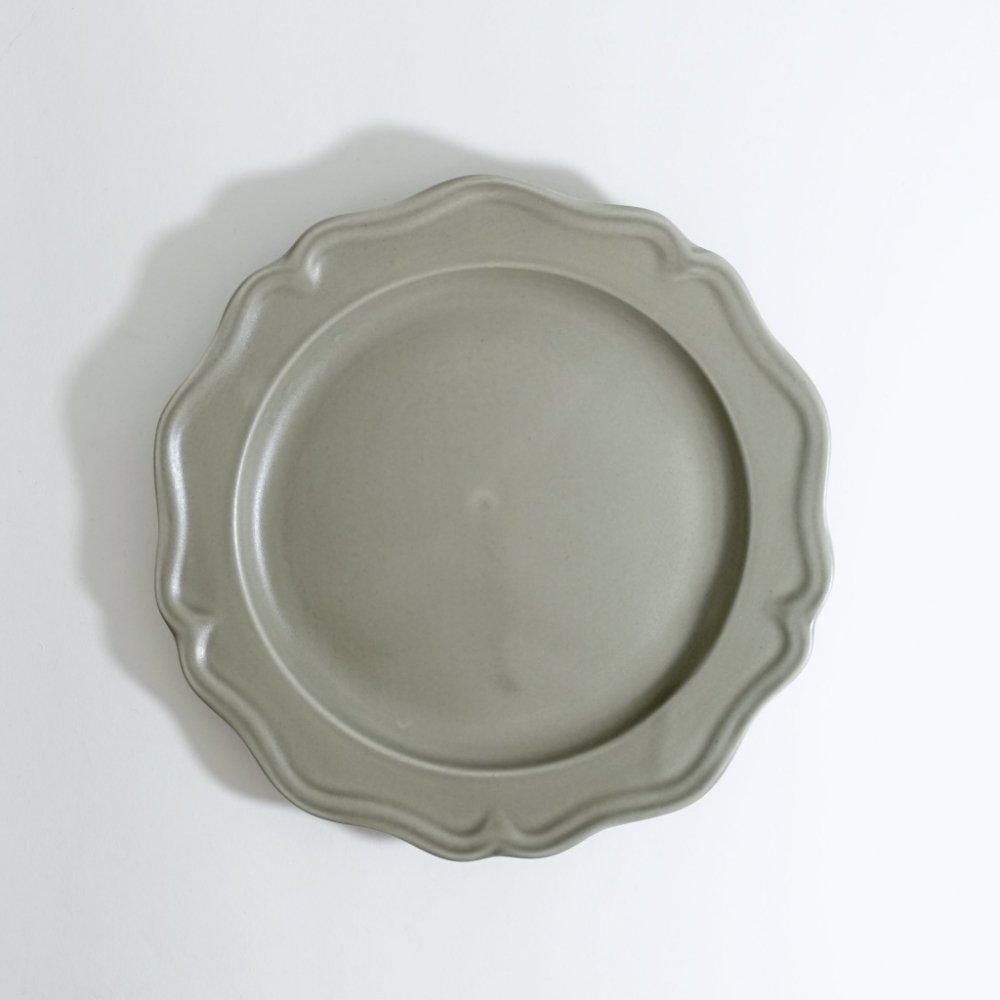 7寸ピューターリム皿 ススグレー