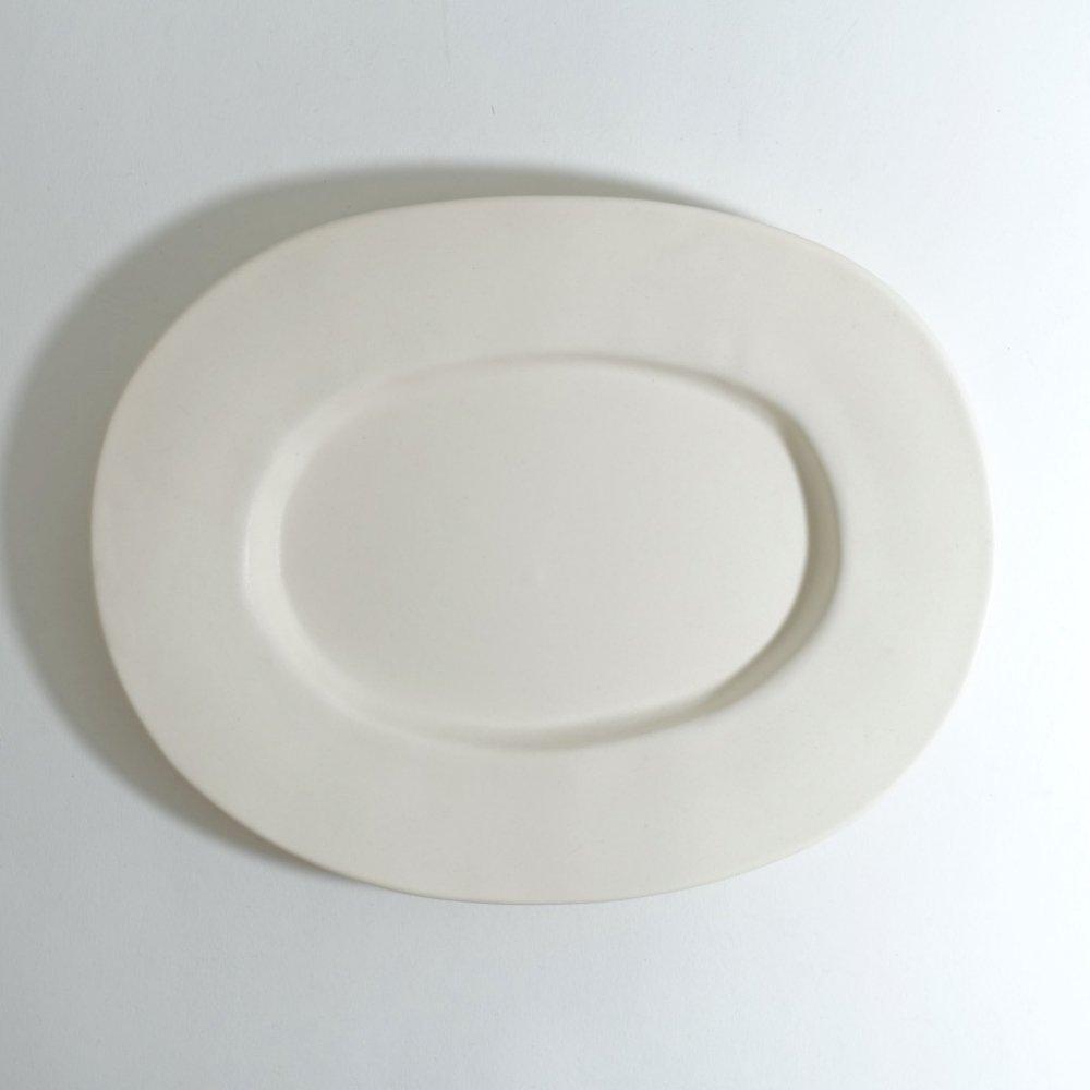 ラウンドオーバル皿(中) さくらベージュ