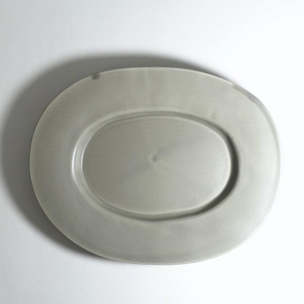 ラウンドオーバル皿(中) ススグレー