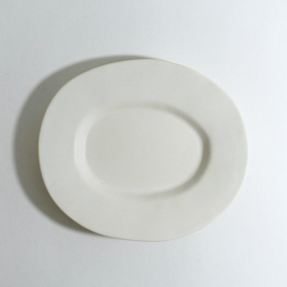 ラウンドオーバル皿(小) さくらベージュ