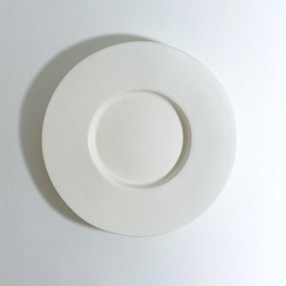 6寸ワイドリム皿 さくらベージュ