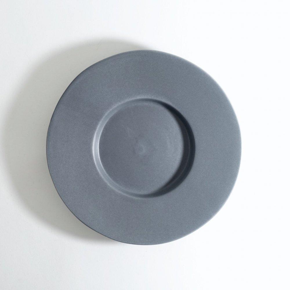 5寸ワイドリム皿 ネイビーグレー