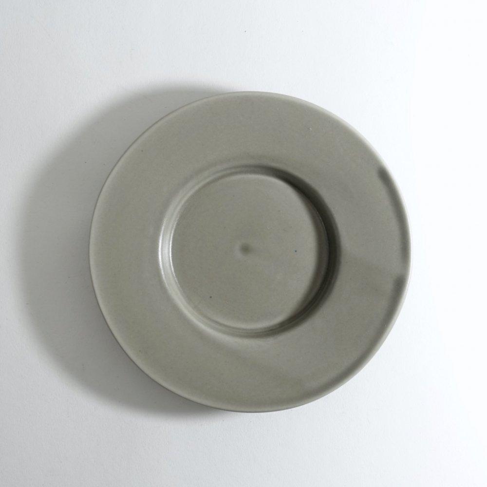 ワイドリム皿(小) ススグレー
