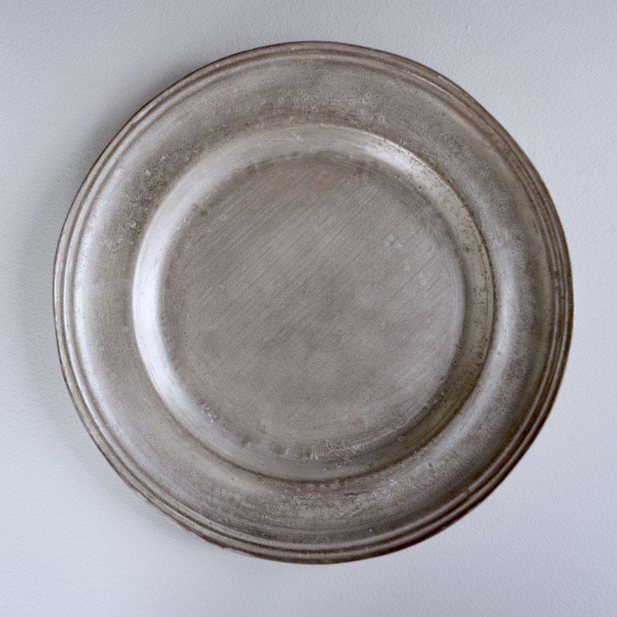 銀磁9.5寸リム皿