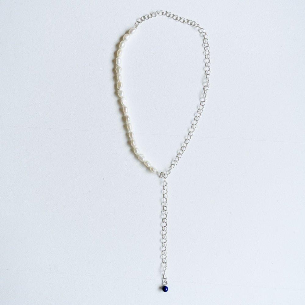 Miro pearl necklace_silver