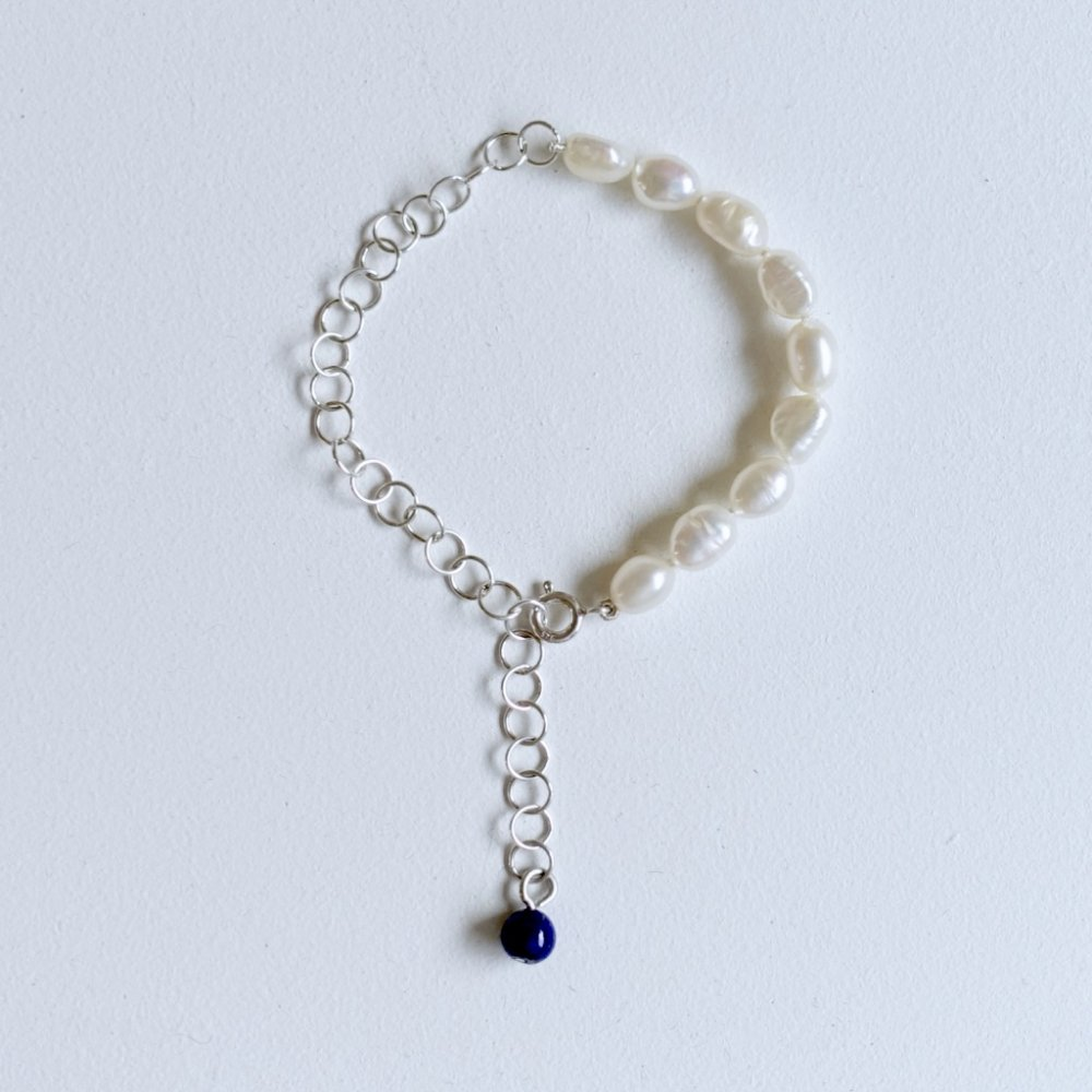 Miro pearl bracelet_silver