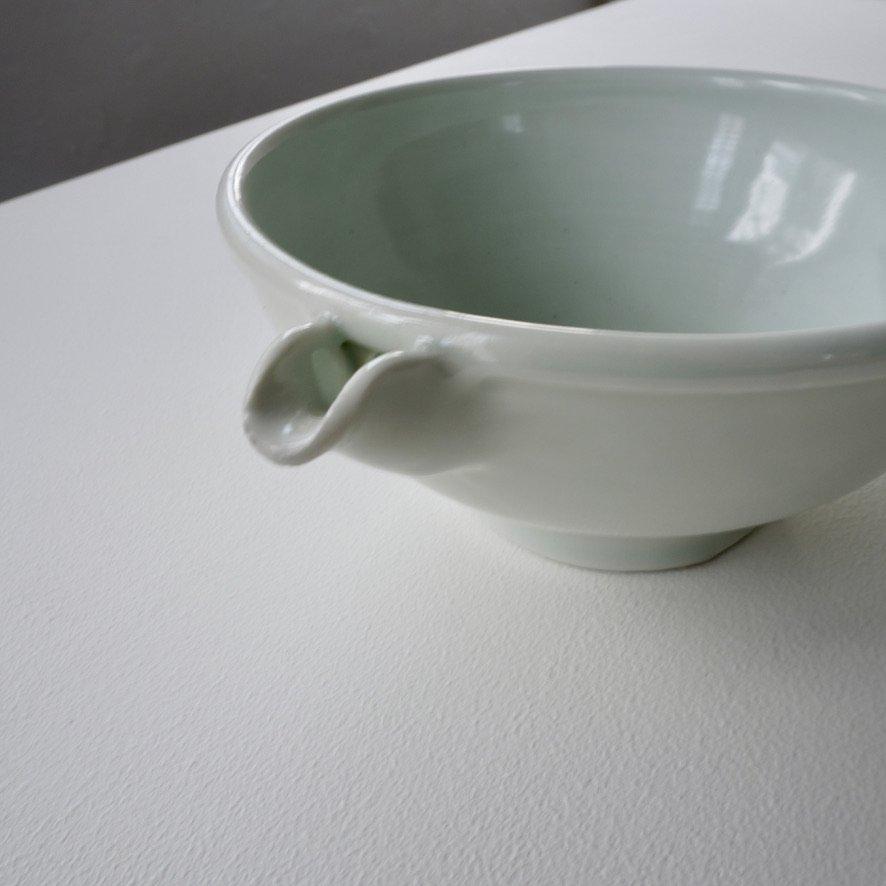 白磁6寸片口鉢
