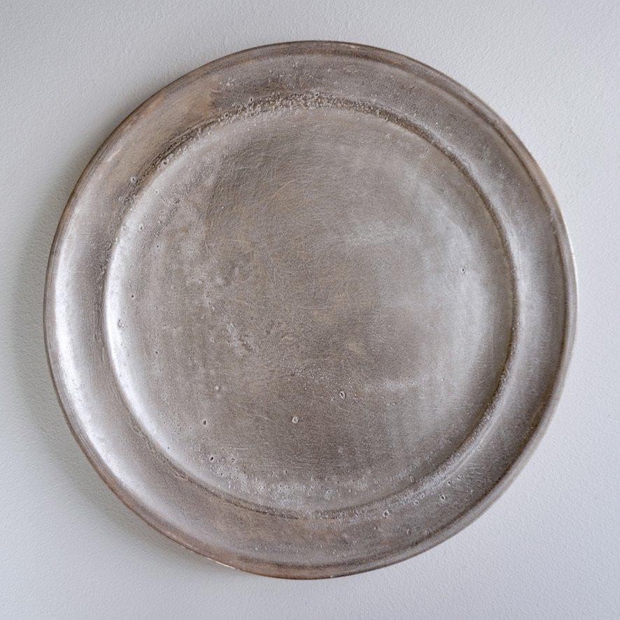 銀磁8.5寸リム皿