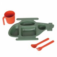 M&B KIDS PLATE SET''HELICOPTER'' with DULTON