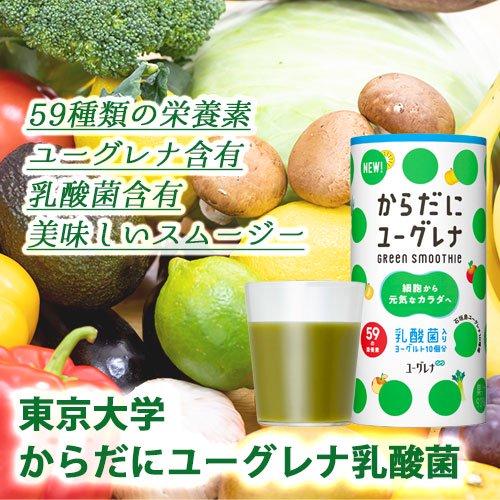 からだにユーグレナ Green Smoothie 乳酸菌 15本