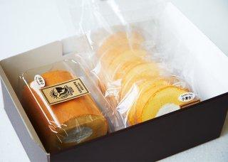 グルテンフリーロールケーキ ハーフサイズ&5ピースパックセット