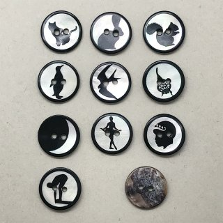 シルエットボタン 6個セット(15ミリ)
