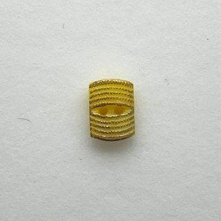ヴィンテージガラスボタン(レクタングル・イエロー)