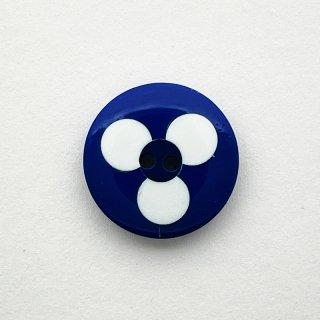 ヴィンテージカゼインボタン(ブルー&ホワイト)