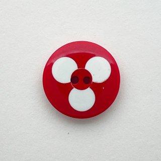 ヴィンテージカゼインボタン(レッド&ホワイト)