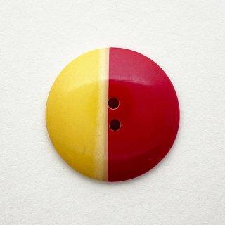 ヴィンテージプラスチックボタン(イエロー×レッド)