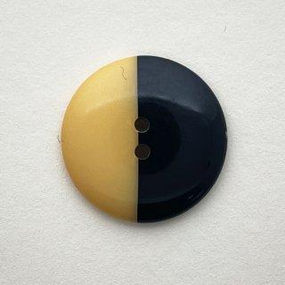 ヴィンテージプラスチックボタン(クリーム×ブラック)