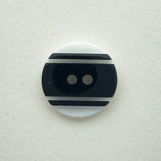 ヴィンテージプラスチックボタン(ホワイト×ブラック)