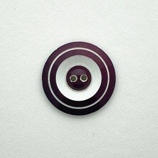 ヴィンテージカゼインボタン(ホワイト×パープル)