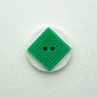 ヴィンテージカゼインボタン(ホワイト×グリーン)