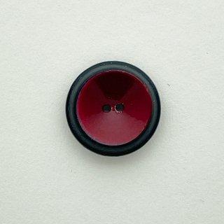 ヴィンテージプラスチックボタン(ブラック×レッド)