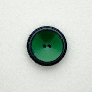 ヴィンテージプラスチックボタン(ブラック×グリーン)
