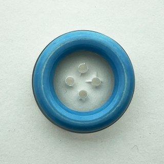 ヴィンテージプラスチックボタン(クリア×ライトブルー)