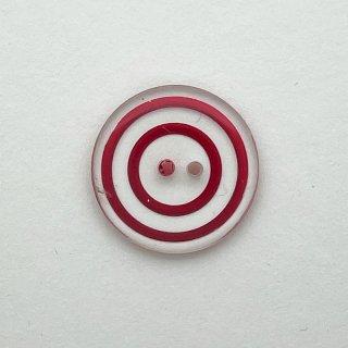 ヴィンテージプラスチックボタン(クリア×レッド)