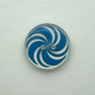 ヴィンテージプラスチックボタン(クリア×サックス)