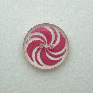 ヴィンテージプラスチックボタン(クリア×ピンク)