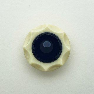 ヴィンテージカゼインボタン(オフホワイト×ネイビー)