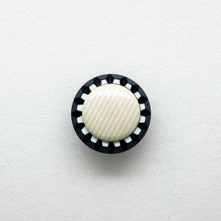 ヴィンテージカゼインボタン(ネイビー×クリーム)