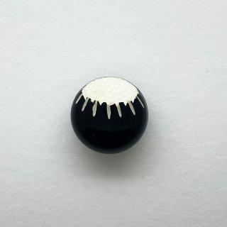 ヴィンテージカゼインボタン(ブラック×クリーム)