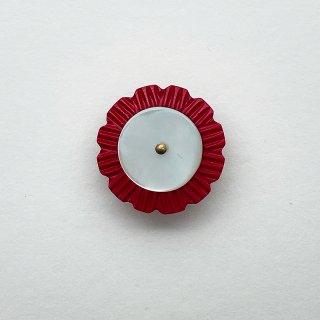 ヴィンテージカゼインボタン(レッド×ホワイト)