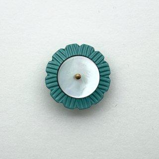 ヴィンテージカゼインボタン(グリーン×ホワイト)