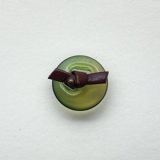 ヴィンテージプラスチックボタン(クリアグリーン)