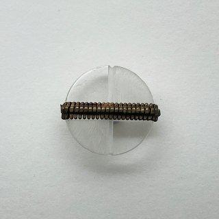ヴィンテージプラスチックボタン(クリア)