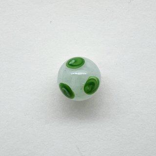 ヴィンテージガラスボールボタン(ミルキーホワイト)