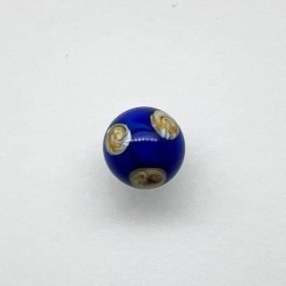 ヴィンテージガラスボールボタン(ネイビー)
