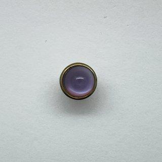 ヴィンテージガラスボタン(ライトパープル)